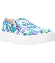 zapatilla abi verde floral we love shoes