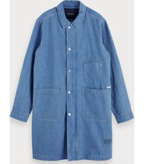 scotch & soda denim trenchcoat