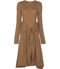 jw anderson knot detail jumper dress - brown
