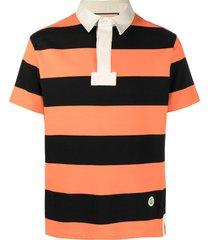 gucci horizontal-stripe polo shirt - orange
