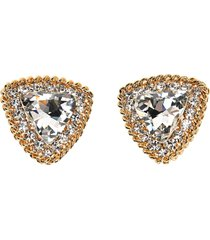 alessandra rich crystal triangle clip on earrings