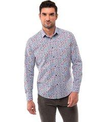 camisa spandex print floral arrow