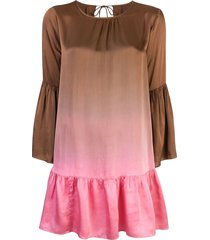 cynthia rowley siena ombre swing dress - brown