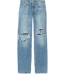 90's comfy jean indigo destroyed blue