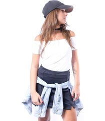blusa up side wear ciganinha branca