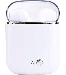 audifonos, auriculares dobles estéreo bluetooth i7s tws-blanco
