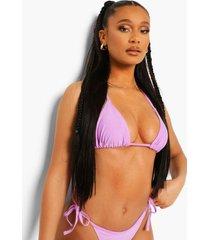 essentials driehoekige bikini top, bright lilac