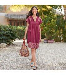 sundance catalog women's bright pathway dress in boysenbery xs
