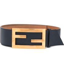 fendi baguette belt - blue