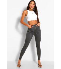 tall denim button front skinny jeans