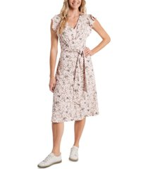 cece floral-print tie-waist dress