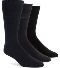 men's boss 3-pack dress socks, size one size - black
