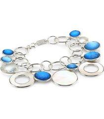 ippolita women's wonderland sterling silver & doublet link charm bracelet