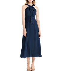 women's jenny packham halter neck chiffon midi dress