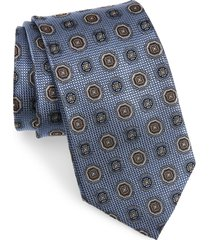 men's nordstrom medallion silk x-long tie, size x-long x-long - blue