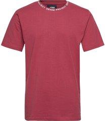 dpfirat tee t-shirts short-sleeved röd denim project