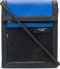 not guilty homme touch strap crossbody bag - black
