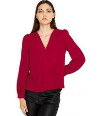 blusa básica pliegues rojo nicopoly