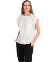 top with lurex stripes and threads