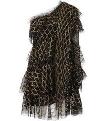 philosophy di lorenzo serafini lurex one-shoulder dress