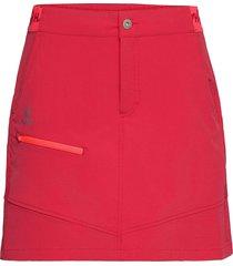 pallas women's x-stretch skort kort kjol röd halti