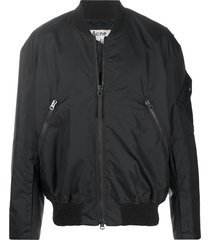 acne studios relaxed-fit bomber jacket - black
