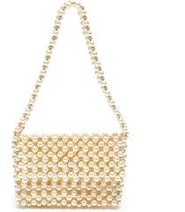 'pearl mist' baguette shoulder bag