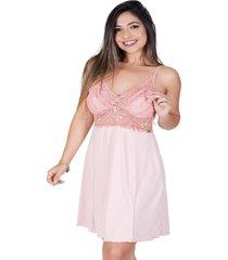 camisola de amamentação all store renda rosa