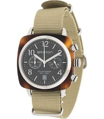 briston watches clubmaster classic watch - green