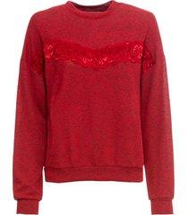 maglione con pizzo (rosso) - rainbow