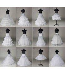 12 styles white a line hoop hoopless short crinoline petticoat slips underskirt