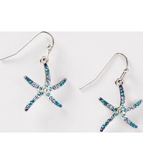 sparkling starfish drop earrings