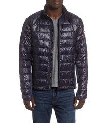 men's canada goose 'hybridge(tm) lite' slim fit packable jacket, size small - blue