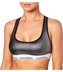 brassieres unlined bralette modern cotton wet look negro calvin klein