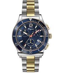 1898 sport two-tone stainless steel chronograph bracelet watch