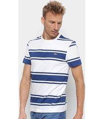 camiseta lacoste listrada masculina
