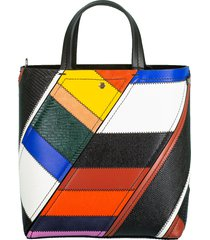 patchwork small hex tote
