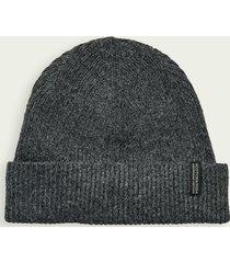 scotch & soda classic rib-knit stretch beanie