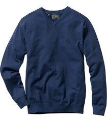 maglione con scollo a v (blu) - bpc selection