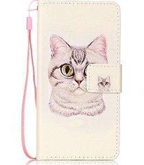 lg lv3 case,lg k8 2017 case,xyx [lovely cat][double sided design][stand][wallet]