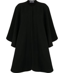 yves saint laurent pre-owned relaxed-fit collarless poncho - black