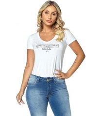t-shirt daniela cristina gola v profundo 02 602dc10302 branco pp - feminino