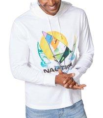 nautica men's logo print hoodie