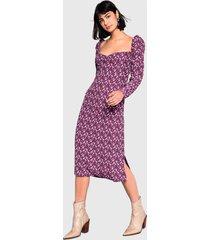 vestido glamorous corto morado - calce ajustado