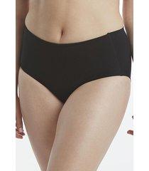 calzón control abdominal y lumbar negro flores