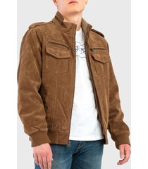 chaqueta levis jacket with sherpa tan marrón - calce regular