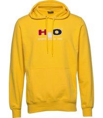 absalon hooded sweat hoodie trui geel h2o
