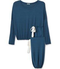 women's eberjey gisele slouchy pajamas, size x-small - blue