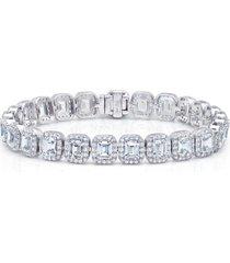 women's lafonn lassaire emerald cut simulated diamond tennis bracelet