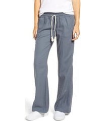 women's roxy 'oceanside' beach pants, size x-large - grey